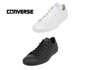 Converse C T All Star Ox Low Top  white / mono black  Leather Unisex Trainers
