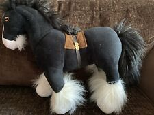 DISNEY STORE BRAVE PRINCESS MERIDA BLACK HORSE ANGUS PLUSH SOFT TOY