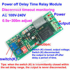 10A Trigger AC 110V 220V Adjust Timer Trigger Delay Timing ON/OFF Switch Relay