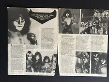 KISS 2 Page Magazine Article / Clippings Of Eric Carr