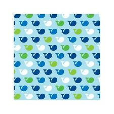 "16 Ocean Baby Whale Baby Shower Birthday Party 5"" Paper Beverage Napkins"