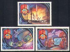 Rusia 1981 espacio/cohetes/Antena Parabólica/TV/juego de estación espacial 3 V (b4666)