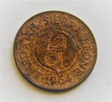 1964 SIERRA LEONE HALF CENT COIN