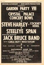 Steve Harley Steeleye Span Jack Bruce UK show advert 1975