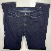 Lucky Brand Jeans Womens 4/27 Brooke Straight Stretch Blue Denim Dark Wash