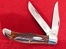 Case XX Flat Blade 1940-64 VERY RARE 5265 RED Stag folding hunter knife
