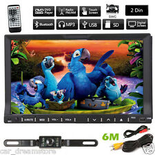 "Double 2Din In Dash Deck Car DVD Radio Player 7"" Touch Bluetooth Stereo+Camera"