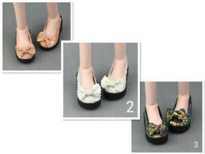 6cm Bling-Bling Bowknot Fashion Doll Shoes For 1/4 BJD Doll High Heel Shoes Toy