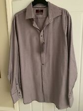 Mens Luxury Shirt From M & S Burgundy & White 17 Ins Collar New With Tags