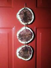 Halloween Door Hanging Decoration - Engraved Rustic Cedar Charm