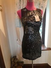 Stunning All Saints Cicily Sequin Embellished Dress Size 8 BNWT rrp£298