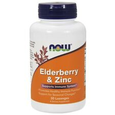 Now Foods Elderberry & Zinc - 30 Lozenges , Clearance for dented/stained