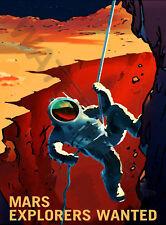 NASA POSTER SPACE EXPLORATION JOB ADVERT EXPLORERS 18 x 24 '' LARGE LF3630