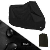 Full Black Motorcycle Scooter Cover Waterproof UV Dust Rain Protector 3XL Tool