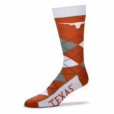 NCAA Texas Longhorns Argyle Unisex Crew Cut Socks - One Size Fits Most