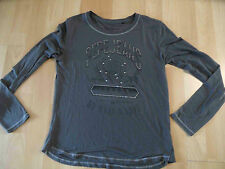 PEPE Jeans ganz leichtes Langarmshirt m. Nieten grau Gr. 12 J  SH316