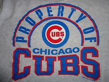 Gray TRUE VINTAGE 1989 Property of Chicago Cubs MLB Baseball T-Shirt Mens M NICE