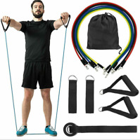 11Pcs/Set Resistance Band Workout Yoga Exercise Crossfit Fitness Training Tube