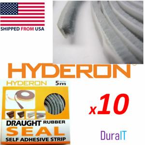 10x New DYI self adhesive window door seal Insulation brush pile Weather Strip 2