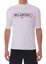 "NEW +TAG BILLABONG MENS (L) ""FRONT"" WET SHIRT RASH VEST RELAXED FIT SHORT SLEEVE"
