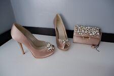 Karen Millen Womens Shoes & Matching Bag, Heels, Size Uk 4, Eu37, Crystal Clutch