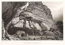 SÄCHSISCHE SCHWEIZ - KUHSTALL - Tromlitz - Stahlstich 1836/1837
