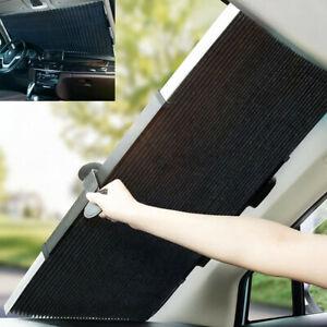 Retractable Car Front/Rear Window Sun Visor UV Protection Aluminum Foil 51X18in