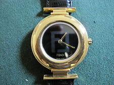 053 FENDI  ladys/mans all swiss gold plated 320G quartz watch