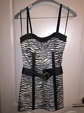 GUESS Jeans Sexy Zebra Print Mini Club Party Dress Size 3