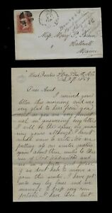 CIVIL WAR LETTER - 16th Maine Infantry - Writes from Ft Wadsworth Petersburg, VA