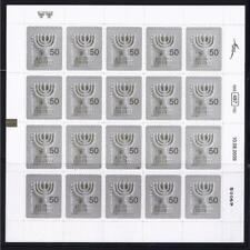 ISRAEL STAMPS 2010 SELF ADHESIVE MENORAH 0.5 BOOKLET 2nd ISSUE