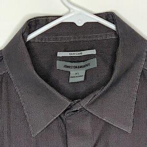 Johnston & Murphy Designer Shirt LS Gray XL