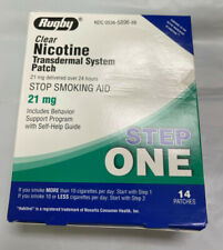 *14 Rugby Nicotine Transdermal System Patch STEP ONE 21mg Free Shipping EXP 4/23