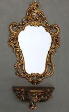 Miroir mural avec console or baroque Tablette de 50X76 Ancien