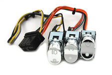 Chrome cruise, accessory, & spot lamp switches Fits-HarleyFLHTC Models 2004-Up