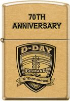 Zippo 70th Anniversary D-DAY Commemorative Lighter 1944 Gold Dust New Very Rare