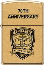 Zippo 70th Anniversary D-DAY Commemorative Lighter 1944 Gold Dust New Very Rare