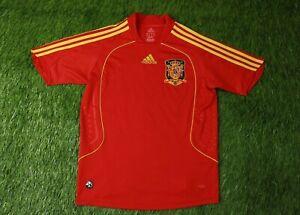 SPAIN NATIONAL TEAM 2007/2009 FOOTBALL SHIRT JERSEY HOME ADIDAS ORIGINAL YOUNG L