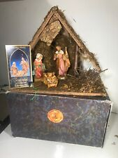 "Vtg Fontanini 5"" Heirloom Nativity Set #54526 In Original Box With Story Card"