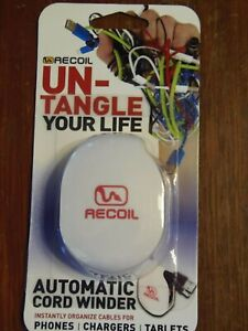 NIP Recoil UN-TANGLE Your Life Spring-loaded Automatic Cord Winder (LBB-11)