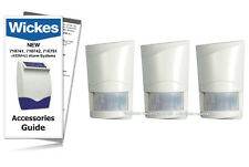 Wickes Alarms Wirefree PIR Detector 710743 /SAP E 433MHz (TRIPLE PACK) INC GUIDE