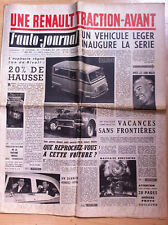 >L'AUTO-JOURNAL n°175 du 06/1957; La Renault Traction Avant/ 125 R4F Gnome-Rhone