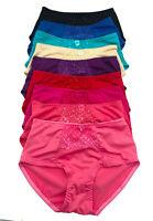 Lot Of 6 or 12 Women Floral Lace Bikini Panty Panties Briefs Underwear S-XL