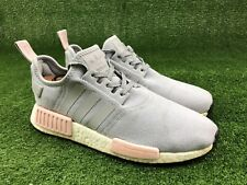 Adidas NMD R1 Clear Onix Grey Light Vapour Pink Women Size 10 PK Boost BY3058