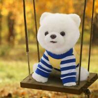 Realistic Simulation Dog Toy Plush Pomeranian Toy Doll Animal Stuffed 2020 F7M3
