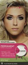 THREE PACKS of Derma V10 Salon Fashion Permanent Hair Colour 11 Platinum Blonde