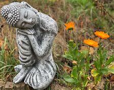 Steinfigur träumender Shiva Frostfest Garten Deko Steinguss Buddha Gartenfigur