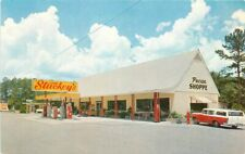 1960s Suwannee River Florida Stuckeys Pecan Shop Gas Station Roadisde Postcard