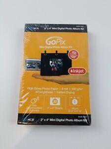 """GoPix Mini Digital Photo Album Kit 3x4""""  30 Sheets High Gloss"""