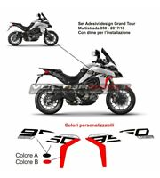 "Kit Adesivi carene laterali Moto Ducati Multistrada 950 design Grand Tour ""V861"""